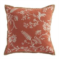 Chaps Home Floral Embroidered Throw Pillow