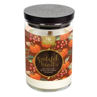 WoodWick ''Grateful Hearts'' Gingered Pumpkin 9.5-oz. Candle Jar