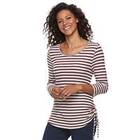 Petite Kate and Sam Textured Striped Tee