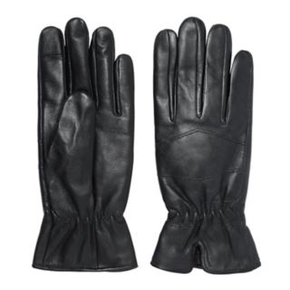 Women's Igloos Notched Cuff Leather Tech Gloves