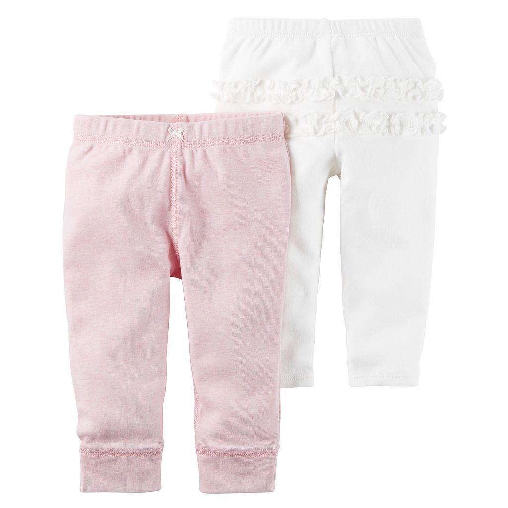 Baby Girl Carter's 2-pk. Ruffled Pants