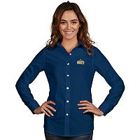 Women's Antigua Denver Nuggets Dynasty Button-Down Shirt