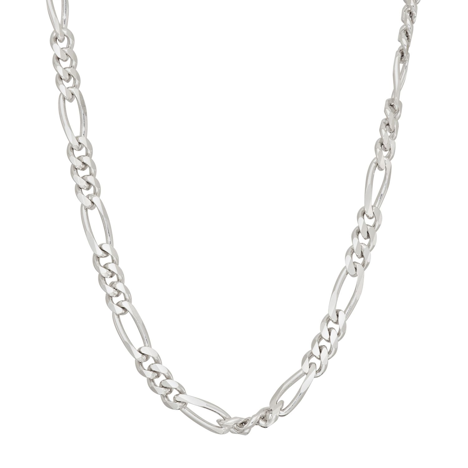 menu0027s sterling silver figaro chain necklace