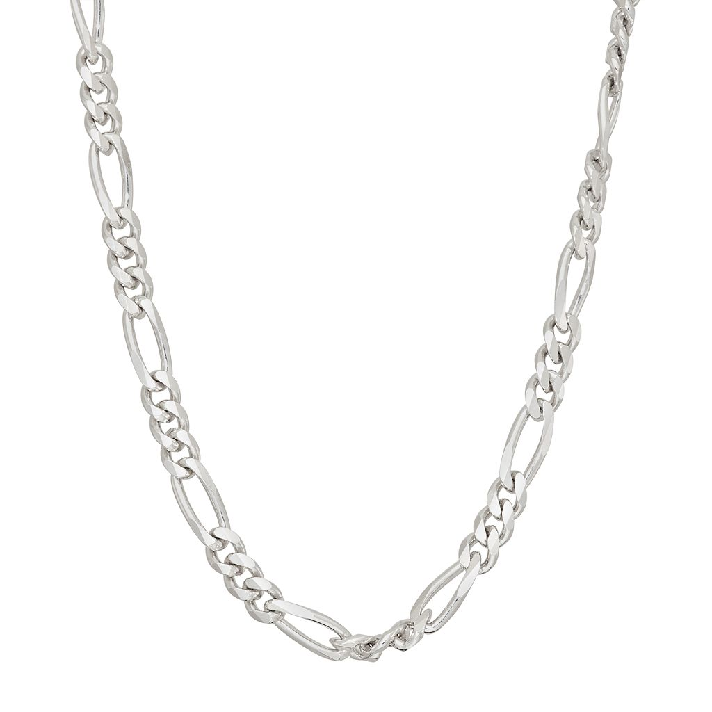 Men's 'Sterling Silver Figaro Chain Necklace - 30 in.