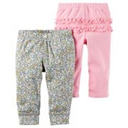 Baby Girl Carter's 2 pkFloral & Pink Ruffle Pants