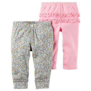 Baby Girl Carter's 2-pk. Floral & Pink Ruffle Pants