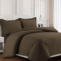 Tribeca Living Valencia Solid Duvet Cover Set