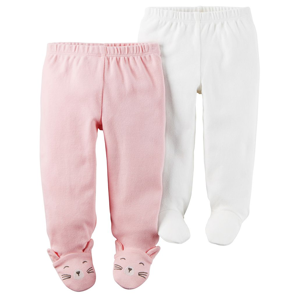 Baby Girl Carter's 2-pk. Footed Pants