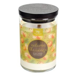 WoodWick ''Autumn Blessings'' Salted Caramel Apple 9.5-oz. Candle Jar