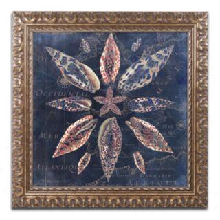 Trademark Fine Art Maritime Blues VII Ornate Framed Wall Art