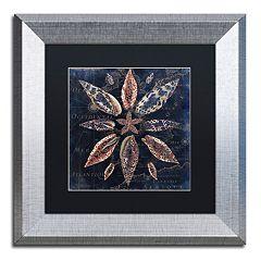 Trademark Fine Art Maritime Blues VII Silver Finish Framed Wall Art