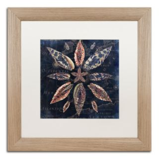 Trademark Fine Art Maritime Blues VII Washed Finish Framed Wall Art