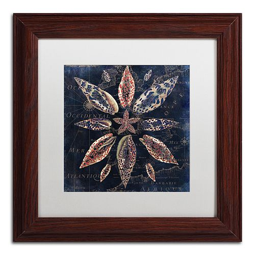 Trademark Fine Art Maritime Blues VII Framed Wall Art