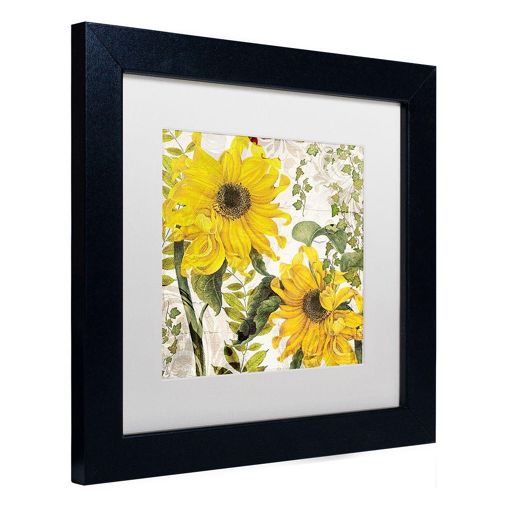 Trademark Fine Art Carina I Black Framed Wall Art