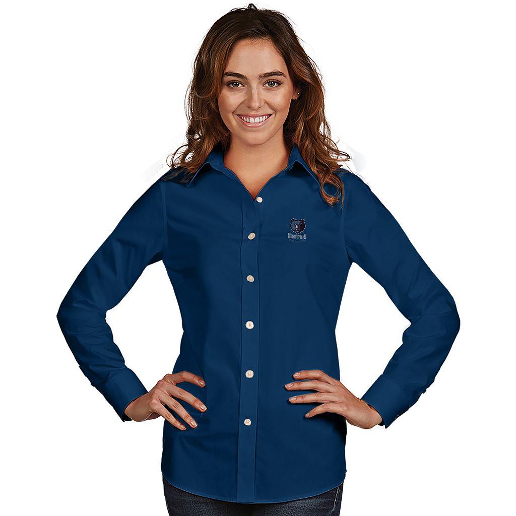 Women's Antigua Memphis Grizzlies Dynasty Button-Down Shirt