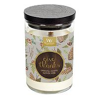 WoodWick ''Give Thanks'' Flickering Fireside 9.5-oz. Candle Jar