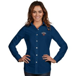Women's Antigua New Orleans Pelicans Dynasty Button-Down Shirt