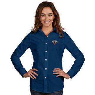 Women's Antigua New Orleans Pelicans Dynasty Button-Down Shirt