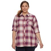 Plus Size SONOMA Goods for Life™ Essential Plaid Shirt