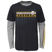 Boys 4-7 Pittsburgh Steelers Interface Dri-Tek Tee Set