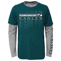 Boys 4-7 Philadelphia Eagles Interface Dri-Tek Tee Set