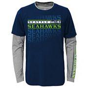Boys 4-7 Seattle Seahawks Interface Dri-Tek Tee Set
