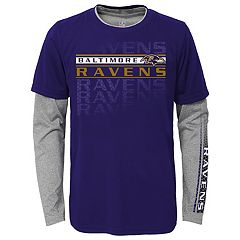 Boys 4-7 Baltimore Ravens Interface Dri-Tek Tee Set