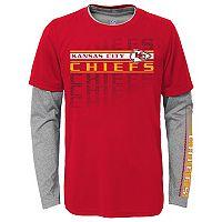 Boys 4-7 Kansas City Chiefs Interface Dri-Tek Tee Set