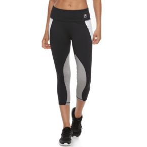 Women's FILA SPORT® Contrast Panel Running Capri Leggings