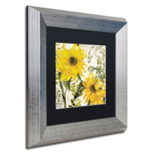 Trademark Fine Art Carina I Silver Finish Framed Wall Art