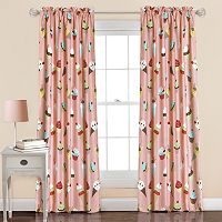 Half Moon 2-pack Cupcake Ice Cream Window Curtains