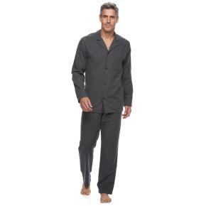 Men's Croft & Barrow® Heathered Flannel Pajama Set