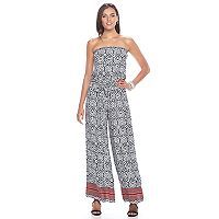 Women's MSK Tile-Print Wide Leg Jumpsuit