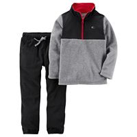Boys 4-8 Carter's 1/4-Zip Pullover Fleece Top & Pants Set