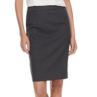 Women's ELLE™ Herringbone Pull-On Pencil Skirt