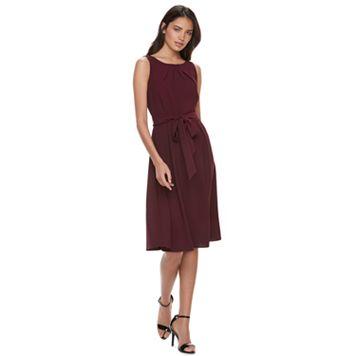Women's ELLE™ Solid Pleated Midi Dress