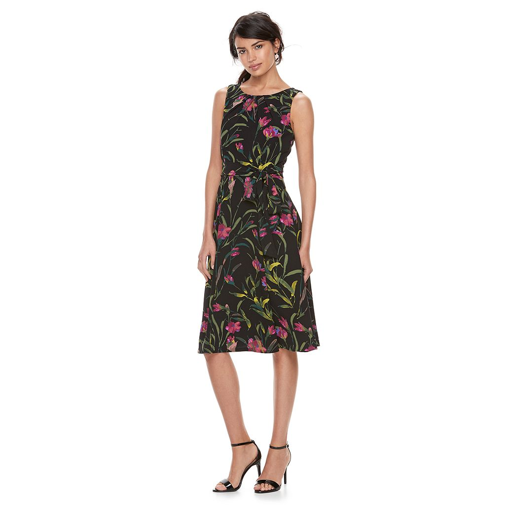 Women's ELLE™ Floral Pleated Midi Dress