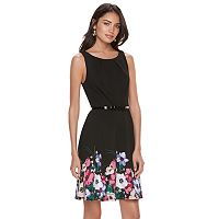 Women's ELLE™ Floral Hem Fit & Flare Dress
