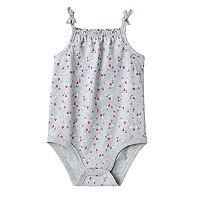 Baby Girl Jumping Beans® Glittery Heart Bodysuit
