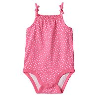 Baby Girl Jumping Beans® Print Ruffle Bodysuit