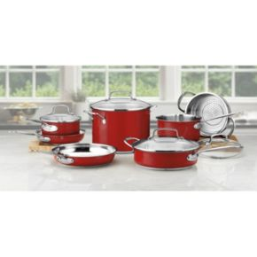 Cuisinart Chef's Classic Color Series 11-pc. Stainless Steel Cookware Set