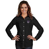 Women's Antigua Sacramento Kings Dynasty Button-Down Shirt