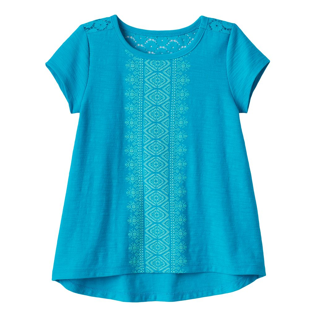 Toddler Girl Jumping Beans® Tribal High-Low Hem Tee