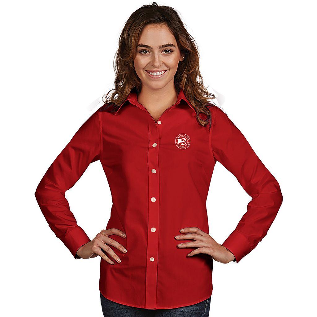 Women's Antigua Atlanta Hawks Dynasty Button-Down Shirt