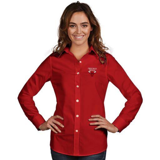 Women's Antigua Chicago Bulls Dynasty Button-Down Shirt