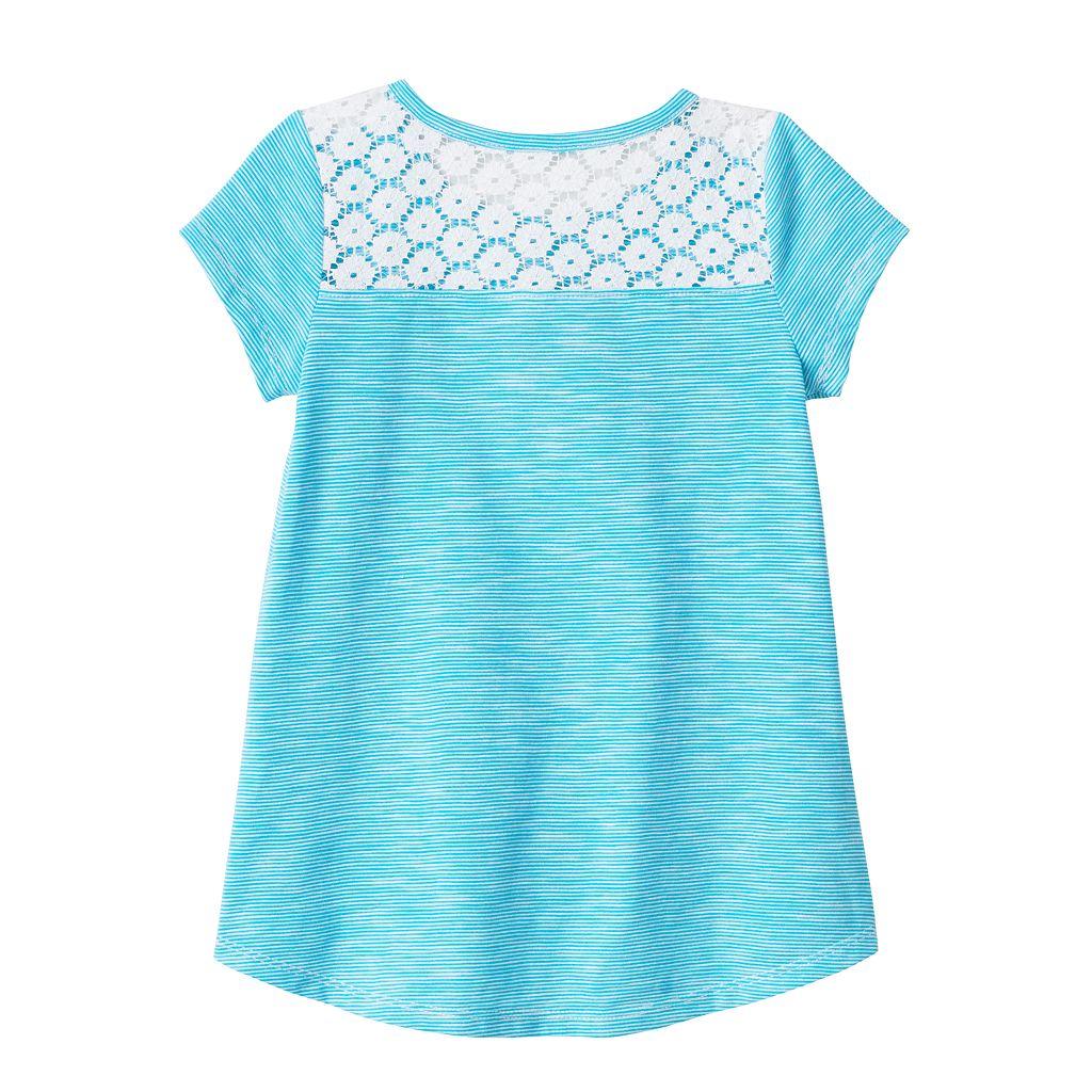 Toddler Girl Jumping Beans® Glitter Graphic High-Low Hem Tee