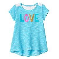 Toddler Girl Jumping Beans® Glitter Graphic High-Low Hem Tee