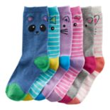 Girls 4-16 SO® 6-pk. Critter Crew Socks