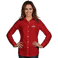 Women's Antigua Los Angeles Clippers Dynasty Button-Down Shirt
