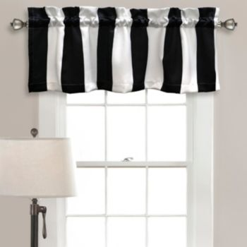 Half Moon Wilbur Stripe Room Darkening Window Valance